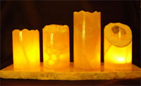 Illuminated honeycomb calcite