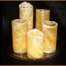 "3"" thin diameter honeycomb calcite candle covers"