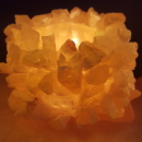 Honeycomb calcite small cluster - attached to slab base